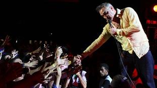 British singer Morrissey, former vocalist of 'The Smiths'