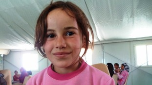 Israa is frightened to return to Syria where she was always scared that she would be killed.