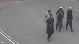 Five of the men involved in the terror plot are captured on CCTV.