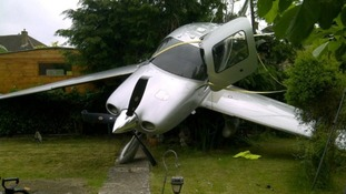 Aircraft lands in Gloucestershire garden: As it happened.