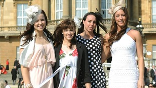 London 2012 Olympics Team GB Gymnasts (left - right) Hannah Whelan, Rebecca Tunney, Beth Tweddle and Imogen Cairns