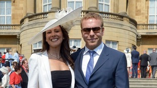 Sir Chris Hoy and his wife Sarra