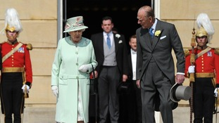 Queen Elizabeth II and the Duke of Edinburgh make their entrance