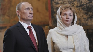 Vladimir Putin and his wife Lyudmila