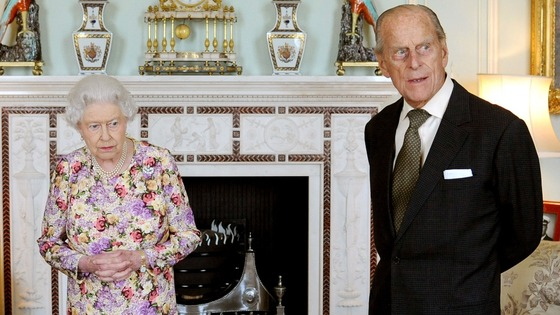 Duke of Edinburgh and the Queen at Buckingham Palace