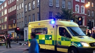 An ambulance attended the scene at Selfridges, Oxford Street.