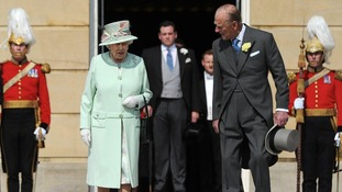 The Queen and Prince Philip attended a garden party at Buckingham Palace yesterday.