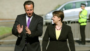 Prime Minister David Cameron with Scottish Conservative Leader Ruth Davidson MSP.