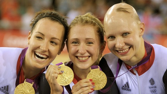 Laura Trott with Dani King and Joanna Rowsell