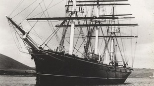 Cutty Sark pictured in Falmouth in the 1920s