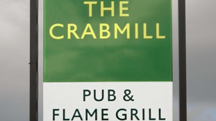 Greene King's new pub sign for The Crabmill