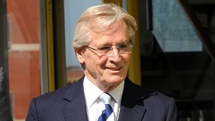 Coronation Street actor Bill Roache leaves Preston Magistrates Court.