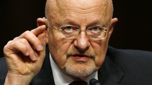 Director of National Intelligence James Clapper testifies before a Senate Intelligence Committee