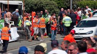 Emergency services at TT crash