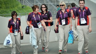 File photo of Games Makers in the Olympic Park, London