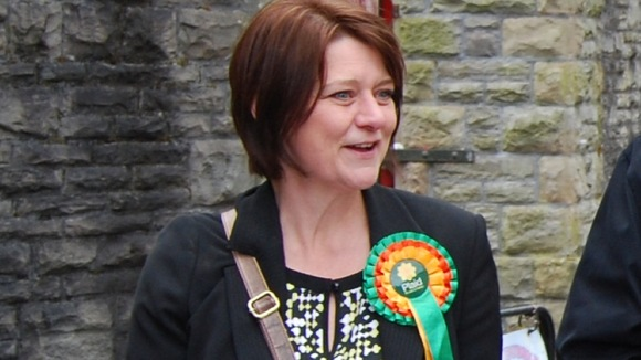 Leanne Wood in Maesteg
