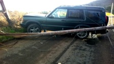 Robert Williams wrote off his Landrover earlier this year by crashing into a telegraph pole