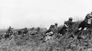 Hundreds of thousands of British troops were killed in the First World War