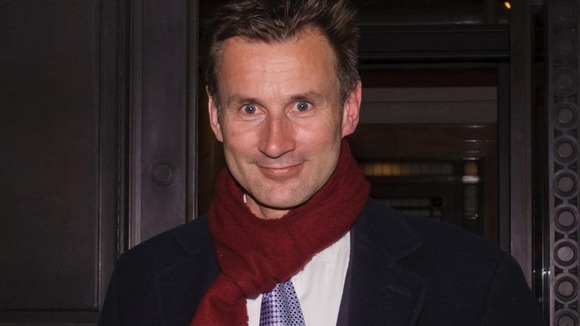 Culture Secretary, Jeremy Hunt leaving the Department of Culture, Media and Sport