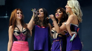 The Saturdays on stage.