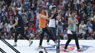 Union J perform at the gig.
