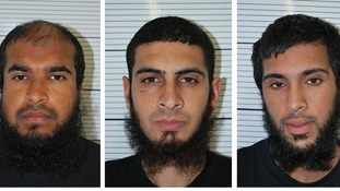 Jewel Uddin, Mohammed Saud, Zohaib Ahmed, sentenced today at the Old Bailey.