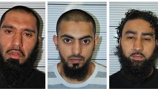 Anzal Hussain, Mohammed Hasseen, Omar Khan, sentenced today.