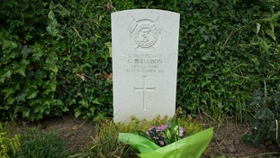 The grave of Private George Ellison.