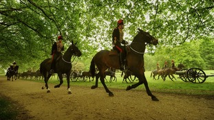 The King's Troop Royal Horse Artillery arrive