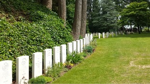 The St Symphorien Cemetery near Mons in Belgium.