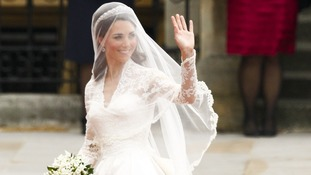 Duchess' wedding dress
