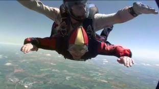 Sapper Jim Wilson takes part in the sky dive