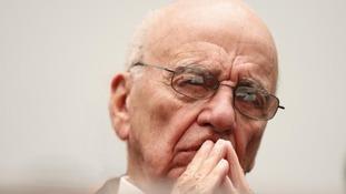 Rupert Murdoch looking pensive