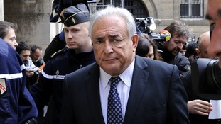 Disgraced IMF chief Dominique Strauss-Kahn leaving a courthouse in Paris in February.