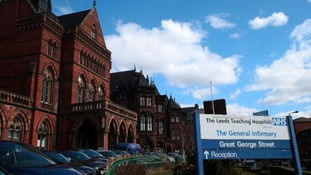 General view of the main entrance to Leeds General Infirmary.