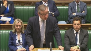 Mr Gove  speaking in the commons.