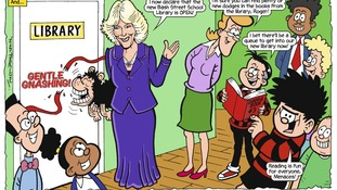 The Duchess of Cornwall also appears in the Beano.