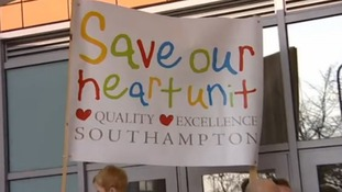 Protesters voice their concerns outside Southampton General Hospital
