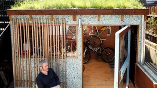 Marcus Sheilds won Best Eco Shed