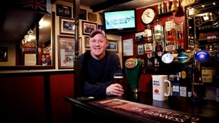 Gary Logan's bar shed.
