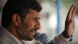 Iranian President Mahmoud Ahmadinejad on the campaign trail in 2009