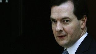 Chancellor George Osborne at 11 Downing Street