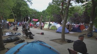 The protester camp in Gezi Park