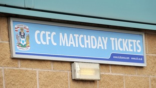 The match day ticket collection point at the Ricoh Arena, home of Coventry City.