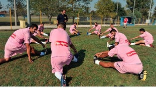 Voukefalas' players training in their new kit