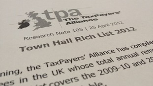 Taxpayers' Alliance Town Hall Rich List 2012