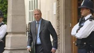 Prince Andrew leaves the London Clinic