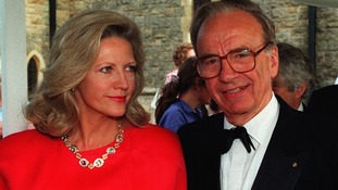 Rupert Murdoch with former wife Anna Torv in 1991