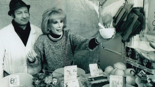 Joan Rivers helping out at the stall