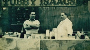 Tubby Issacs with one of his sons in the 1920s
